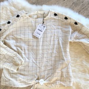 Zara girls top size 10 new with tags